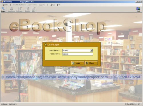 Book Shop Sale and Inventory System - VB NET, MS Access Project